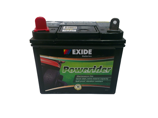 Exide Powerider U1rmf Ride On Mower Battery Comet