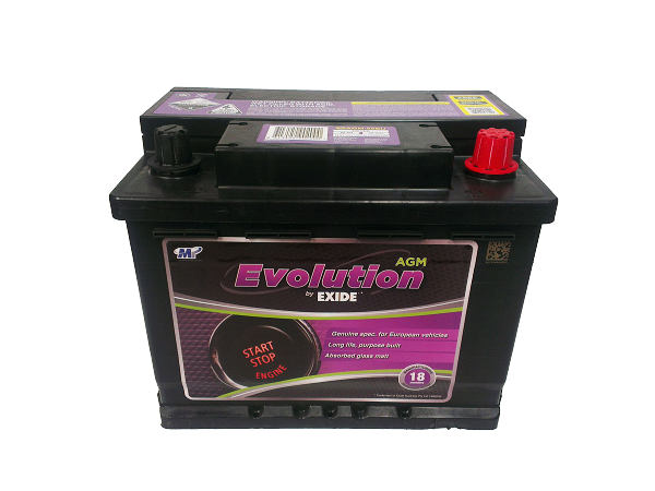 exide evolution stop start battery ssagm 55eu comet. Black Bedroom Furniture Sets. Home Design Ideas