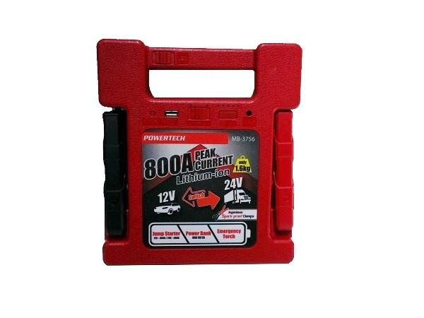 Powertech 12-24V 800A Jump Starter-Power Bank  1 B